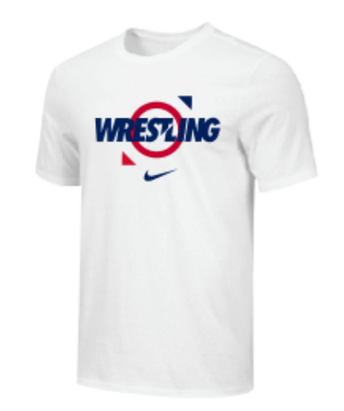 Nike Youth Wrestling Tee - White/Red/Blue