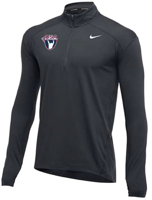 Nike Men's USA Weightlifting 1/2 Zip Top - Charcoal