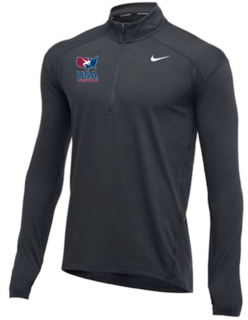 Nike Men's USA Wrestling 1/2 Zip Top - Charcoal