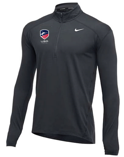 Nike Men's USA Fencing 1/2 Zip Top - Charcoal