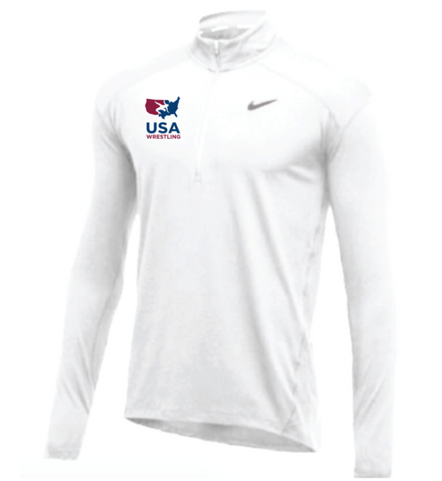 Nike Men's USA Wrestling 1/2 Zip Top - White