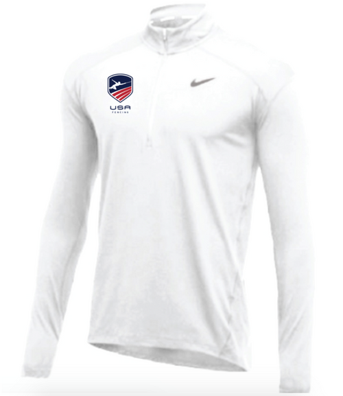 Nike Men's USA Fencing 1/2 Zip Top - White