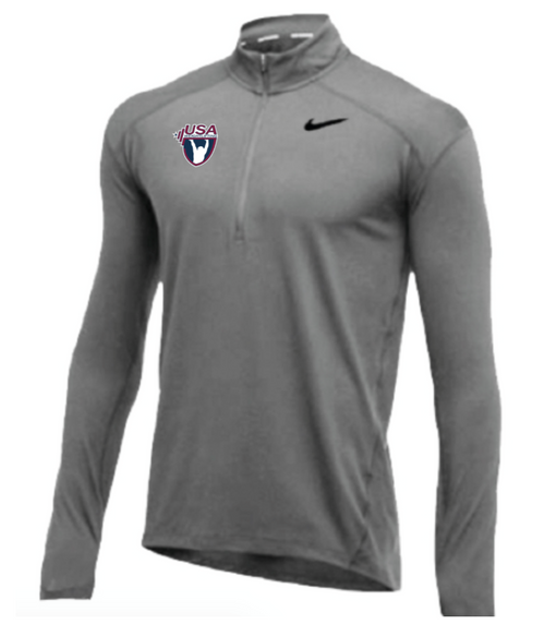 Nike Men's USA Weightlifting 1/2 Zip Top - Grey
