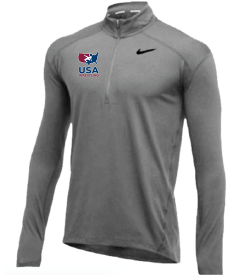 Nike Men's USA Wrestling 1/2 Zip Top - Grey