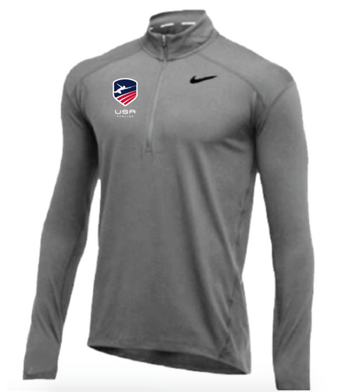 Nike Men's USA Fencing 1/2 Zip Top - Grey