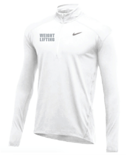 Nike Men's Weightlifting 1/2 Zip Top - White