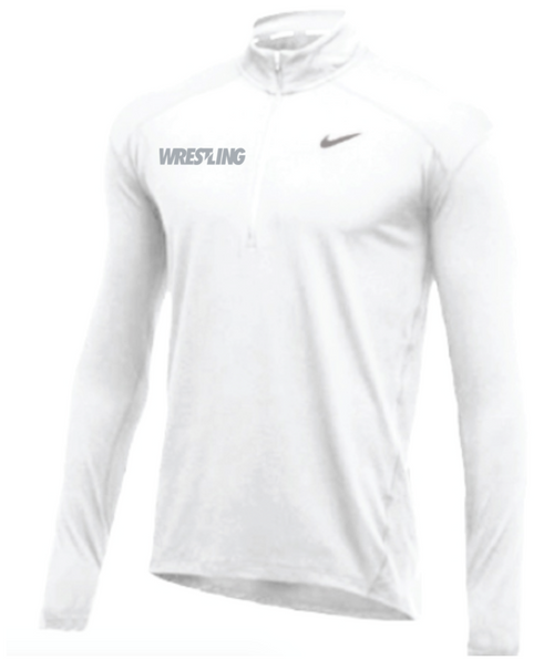 Nike Men's Wrestling 1/2 Zip Top - White