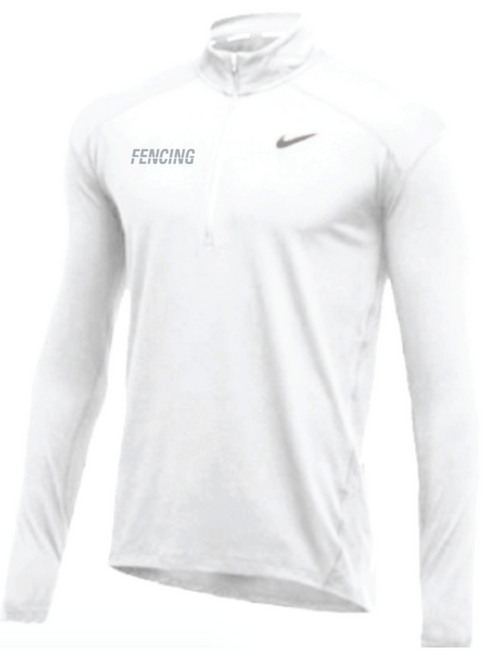 Nike Men's Fencing 1/2 Zip Top - White