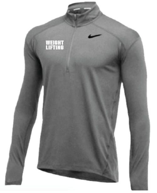 Nike Men's Weightlifting 1/2 Zip Top - Grey