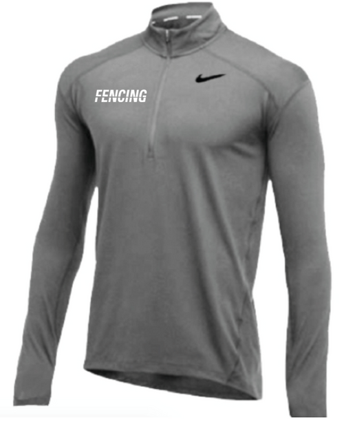 Nike Men's Fencing 1/2 Zip Top - Grey