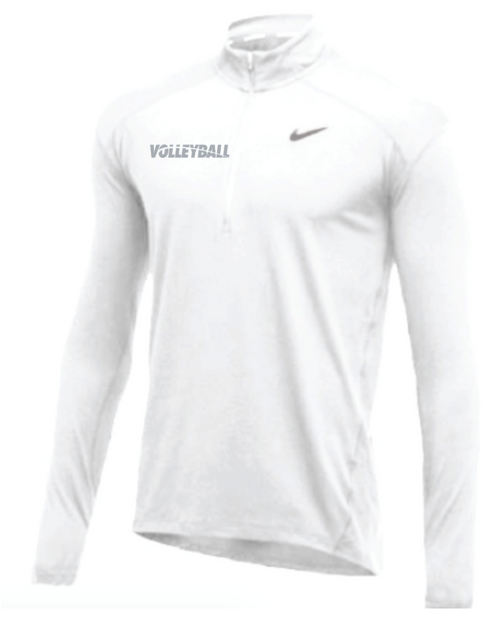 Nike Men's Volleyball 1/2 Zip Top - White