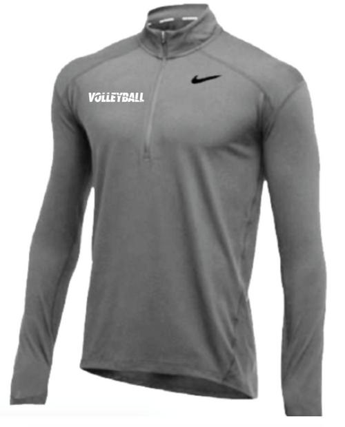Nike Men's Volleyball 1/2 Zip Top - Grey