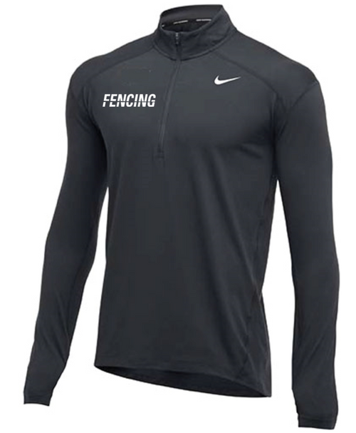 Nike Men's Fencing 1/2 Zip Top - Charcoal