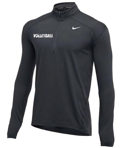 Nike Men's Volleyball 1/2 Zip Top - Charcoal
