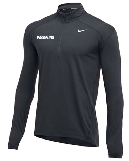 Nike Men's Wrestling 1/2 Zip Top - Charcoal
