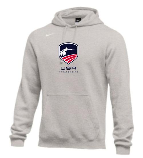 Nike Men's USA Parafencing  Club Fleece Pullover Hoodie - Heather Grey