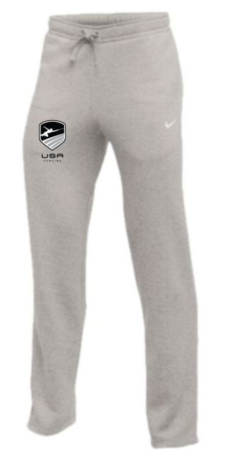 Nike Youth USA Fencing Club Fleece Pant - Heather Grey