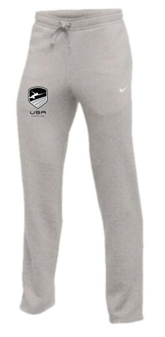 Nike Youth USA Fencing Club Fleece Pant - Heather Grey