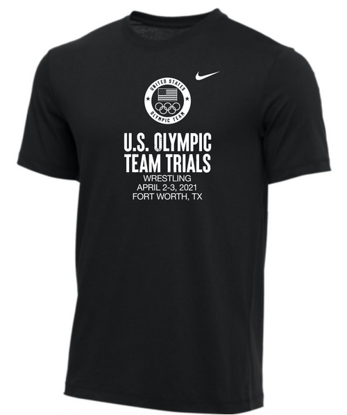 Nike Men's USA Wrestling Olympic Trials Tee - Black