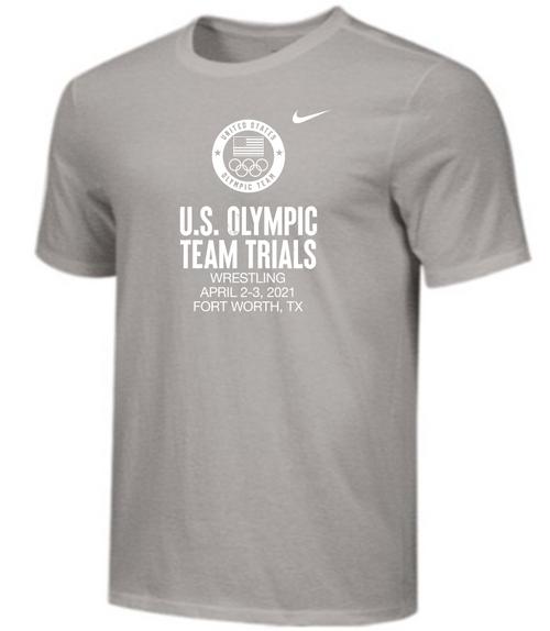 Nike Men's USA Wrestling Olympic Trials Tee - Grey