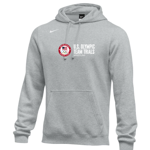 Nike Men's USA Wrestling Olympic Trials Hoodie - Heather Grey