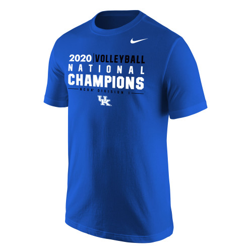 Nike Women's Kentucky Wildcats 2020 Volleyball National Champions Tee - Royal