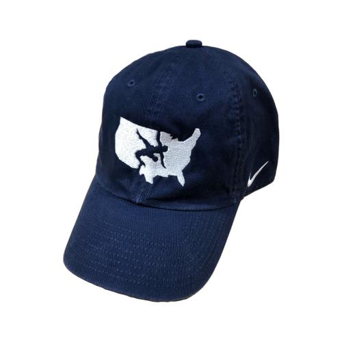 Nike USA Wrestling Campus Cap - Navy/White