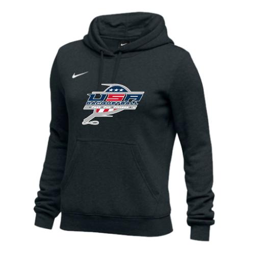 Nike Women's USA Racquetball Club Fleece Hoodie - Black