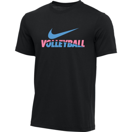 Nike Men's Volleyball Tee - Black/Pink/Blue