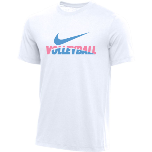 Nike Men's Volleyball Tee - White/Pink/Blue