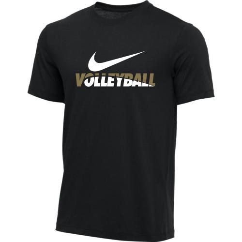 Nike Men's Volleyball Tee - Black/Green/White