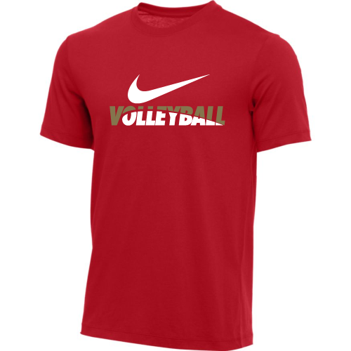 Nike Men's Volleyball Tee - Red/Green/White