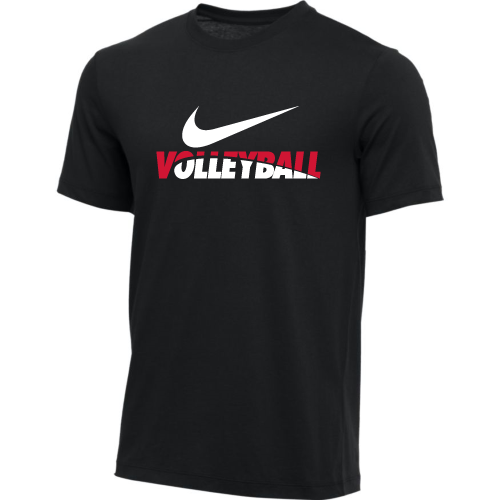 Nike Men's Volleyball Tee - Black/Red/White