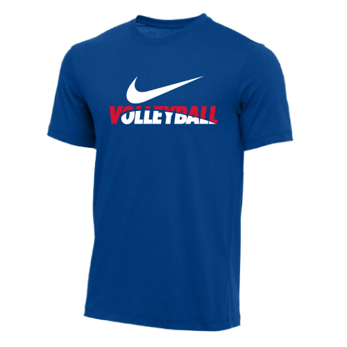 Nike Men's Volleyball Tee - Royal/Red/White