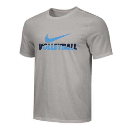 Nike Men's Volleyball Tee - Grey/Navy/Blue