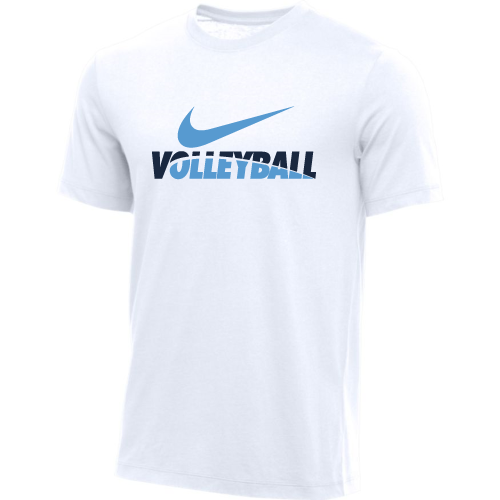 Nike Men's Volleyball Tee - White/Navy/Blue