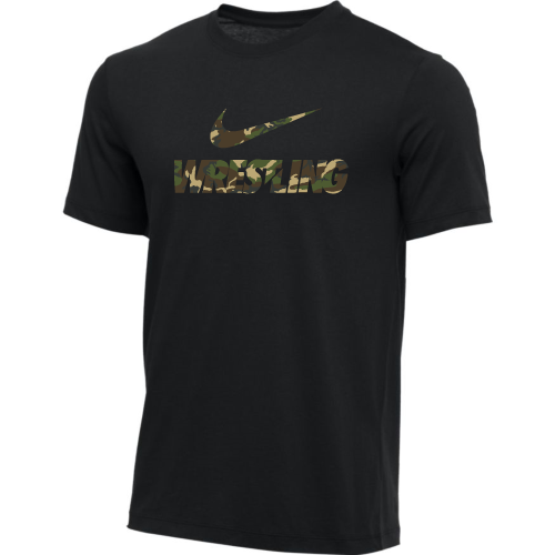 Nike Men's Wrestling Tee - Camo/Black
