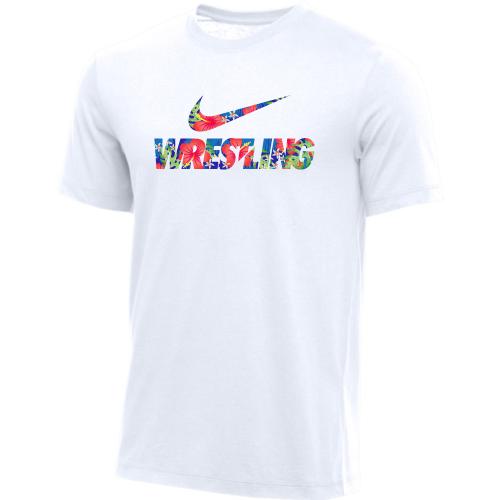 Nike Men's Wrestling Tee - Floral/White