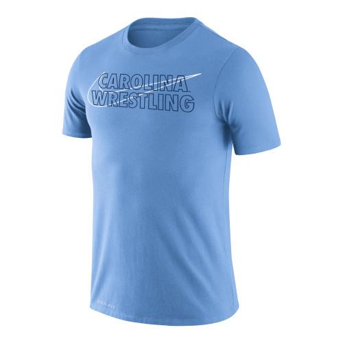 Nike Men's Wrestling Univ of North Carolina Dri-Fit Legend Short Sleeve Tee - Valor Blue