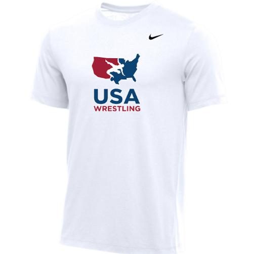 Nike Youth USA Wrestling Tee - White