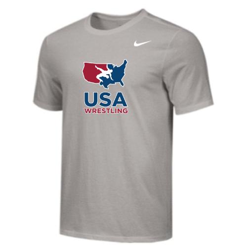 Nike Youth USA Wrestling Tee - Grey