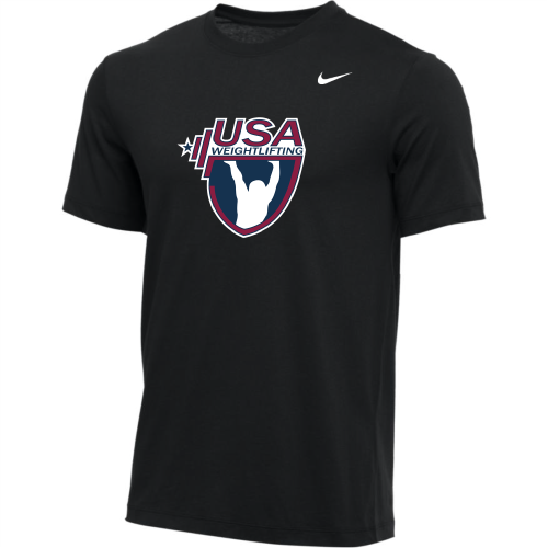 Nike Youth USA Weightlifting Tee - Black