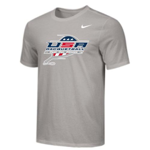Nike Men's USA Racquetball Tee - Grey