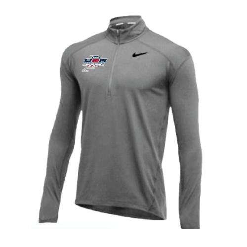 Nike Men's USA Racquetball 1/2 Zip Top - Grey