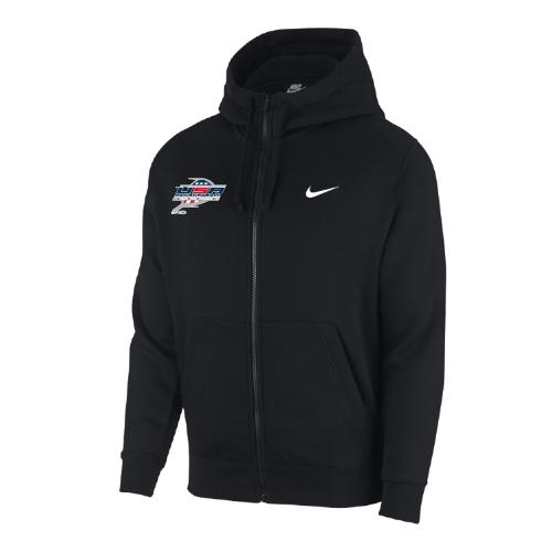 Nike Men's USA Racquetball Club Fleece Full Zip Hoodie - Black