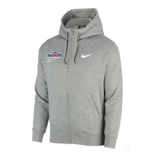 Nike Men's USA Racquetball  Club Fleece Full Zip Hoodie - Grey