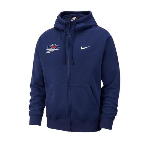 Nike Men's USA Racquetball  Club Fleece Full Zip Hoodie - Navy