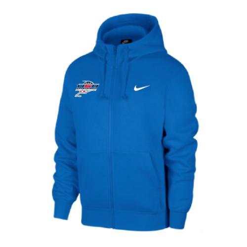 Nike Men's USA Racquetball Club Fleece Full Zip Hoodie - Royal