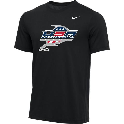 Nike Youth USA Racquetball Tee - Black