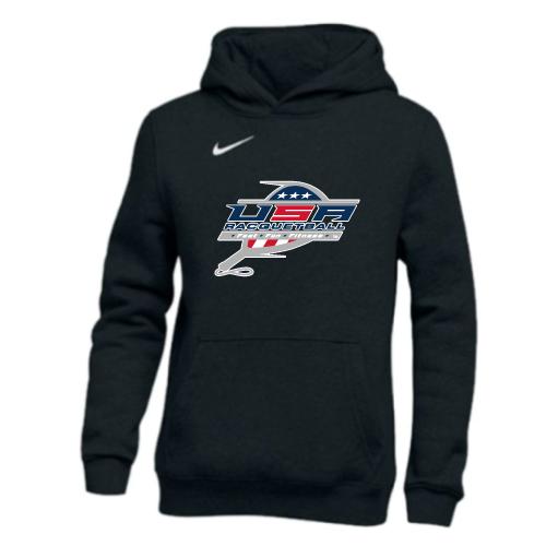 Nike Youth USA Racquetball Pullover Club Fleece Hoodie - Black